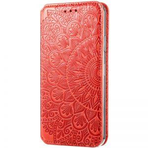 Кожаный чехол-книжка GETMAN Mandala для Xiaomi Mi 10T / Mi 10T Pro – Красный