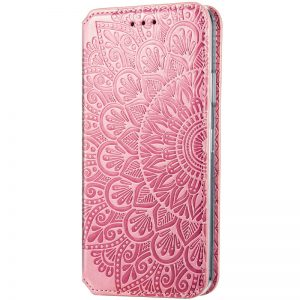 Кожаный чехол-книжка GETMAN Mandala для Huawei P Smart 2021 / Y7a – Розовый
