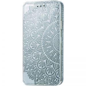 Кожаный чехол-книжка GETMAN Mandala для Huawei P Smart 2021 / Y7a – Серый
