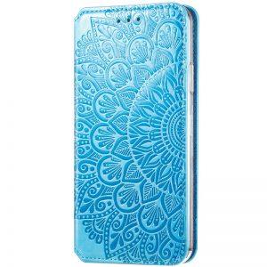 Кожаный чехол-книжка GETMAN Mandala для Huawei P Smart 2021 / Y7a – Синий