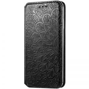 Кожаный чехол-книжка GETMAN Mandala для Huawei P Smart 2021 / Y7a – Черный