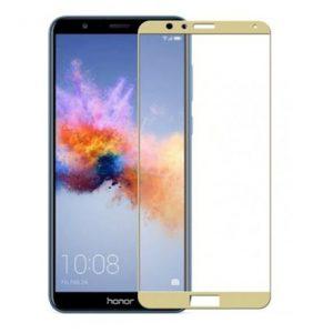 Защитное стекло 2.5D (3D) Full Cover на весь экран для Huawei Honor 7x – Gold