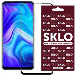 Защитное стекло 3D / 5D Premium SKLO Full Glue на весь экран для Xiaomi Redmi Note 9 / Redmi 10X / Note 9T – Black