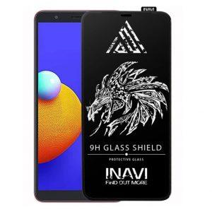 Защитное стекло 3D (5D) Inavi Premium на весь экран для Samsung Galaxy A01 Core — Black