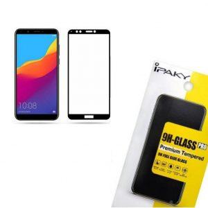 Защитное стекло 3D (5D) Perfect Glass Full Glue Ipaky на весь экран для Huawei Y7 / Y7 Prime 2018 / Honor 7C Pro – Black