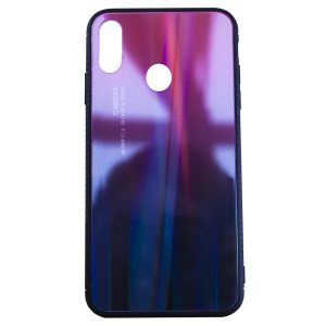 TPU+Glass чехол Gradient Glass с градиентом для Huawei Y9 (2019) / Honor 8x – Красный / Черный