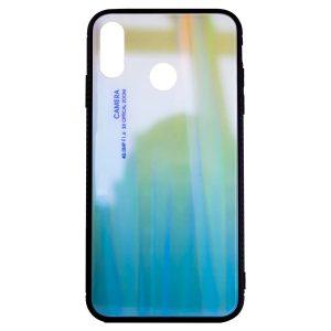 TPU+Glass чехол Gradient Glass с градиентом для Huawei Y9 (2019) / Honor 8x – Зеленый / Голубой