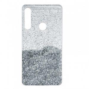 Cиликоновый чехол с блестками Fashion для Huawei P40 Lite E / Y7P (2020) – Silver