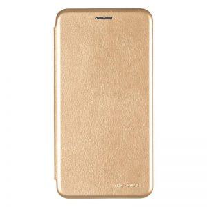 Кожаный чехол-книжка 360 с визитницей для Huawei Mate 10 Lite – Gold