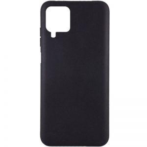 Матовый силиконовый TPU чехол для Samsung Galaxy A12 – Черный