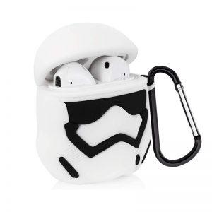 Силиконовый чехол для наушников Star Wars Force + карабин для Apple Airpods – Stormtrooper