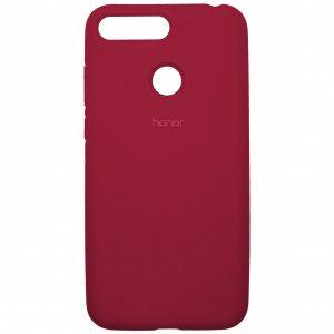 Оригинальный чехол Silicone Cover 360 с микрофиброй для Huawei Y6 Prime 2018 / Honor 7A Pro / 7C – Rose Pink