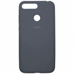 Оригинальный чехол Silicone Cover 360 с микрофиброй для Huawei Y6 Prime 2018 / Honor 7A Pro / 7C – Lavander Grey
