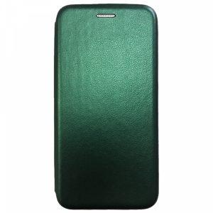 Кожаный чехол-книжка 360 с визитницей для Huawei Honor 20 / Nova 5T – Midnight green