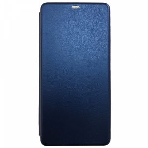 Кожаный чехол-книжка 360 с визитницей для Huawei Honor 20 / Nova 5T – Blue