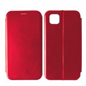 Кожаный чехол-книжка 360 с визитницей для Huawei Y5P / Honor 9S – Red