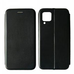 Кожаный чехол-книжка 360 с визитницей для Huawei P40 lite – Black