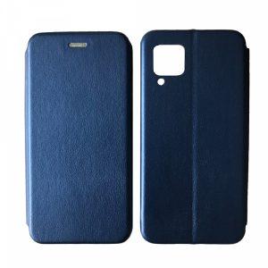 Кожаный чехол-книжка 360 с визитницей для Huawei P40 lite – Blue