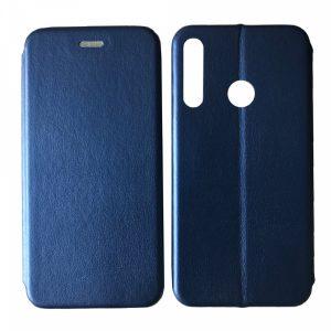 Кожаный чехол-книжка 360 с визитницей для Huawei P40 Lite E / Y7P (2020) – Blue
