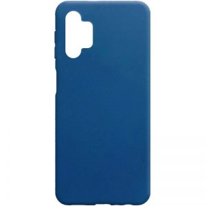 Матовый силиконовый TPU чехол для Samsung Galaxy A32 5G – Синий