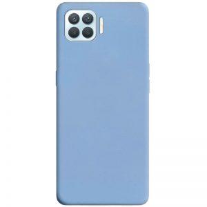 Матовый силиконовый TPU чехол для Oppo A73 –  Голубой / Lilac Blue