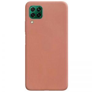 Матовый силиконовый TPU чехол для Huawei P40 Lite – Rose Gold
