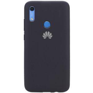 Оригинальный чехол Silicone Cover 360 с микрофиброй для Huawei Y6 / Honor 8A / Y6s 2019 – Черный / Black