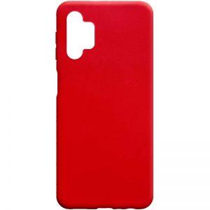 Матовый силиконовый TPU чехол для Samsung Galaxy A32 5G – Красный