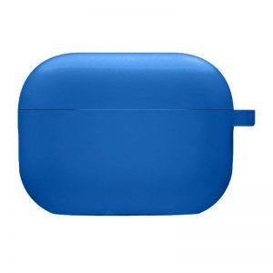 Силиконовый чехол для наушников с микрофиброй для Apple Airpods Pro – Синий / Royal blue