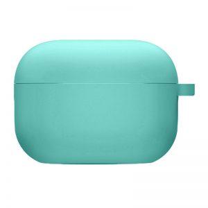Силиконовый чехол для наушников с микрофиброй для Apple Airpods Pro – Бирюзовый / Ice Blue