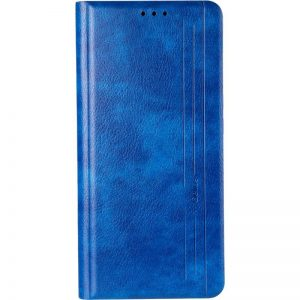 Кожаный чехол-книжка Leather Gelius New для Huawei P30 Lite – Blue