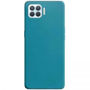 Матовый силиконовый TPU чехол для Oppo A73 – Синий / Powder Blue