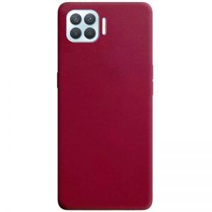 Матовый силиконовый TPU чехол для Oppo A73 – Бордовый