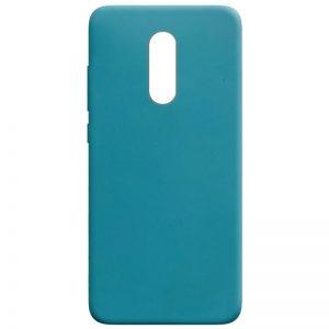 Матовый силиконовый TPU чехол для Xiaomi Redmi 5 Plus – Синий / Powder Blue