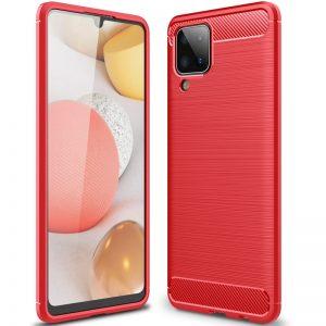 Cиликоновый TPU чехол Slim Series для Samsung Galaxy A12 – Красный