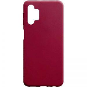 Матовый силиконовый TPU чехол для Samsung Galaxy A32 5G – Бордовый