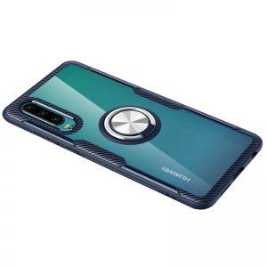 Cиликоновый чехол Deen CrystalRing c креплением под магнитный держатель для Huawei P30 – Темно-синий