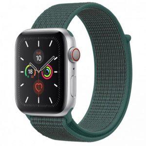 Ремешок Nylon для Apple Watch 38 mm / 40 mm / SE 40 mm – Зеленый / Pine green