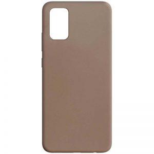 Матовый силиконовый TPU чехол для Samsung Galaxy A02s / M02s – Коричневый