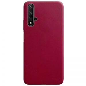 Матовый силиконовый TPU чехол для Huawei Honor 20 / Nova 5T – Бордовый