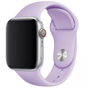 Ремешок силиконовый для Apple Watch 38 mm / 40 mm / SE 40 mm – Сиреневый / Dasheen