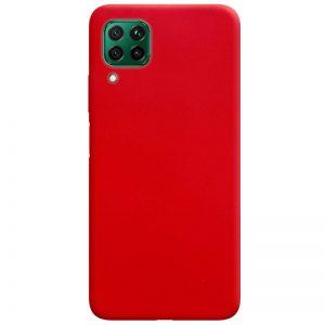 Матовый силиконовый TPU чехол для Huawei P40 Lite – Красный