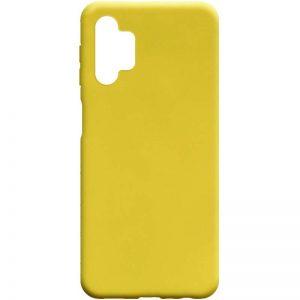 Матовый силиконовый TPU чехол для Samsung Galaxy A32 5G – Желтый