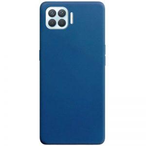 Матовый силиконовый TPU чехол для Oppo A73 – Синий