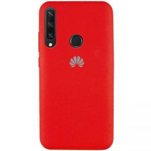 Оригинальный чехол Silicone Cover 360 с микрофиброй для Huawei Y6P – Красный / Red