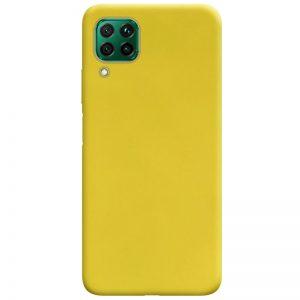 Матовый силиконовый TPU чехол для Huawei P40 Lite – Желтый