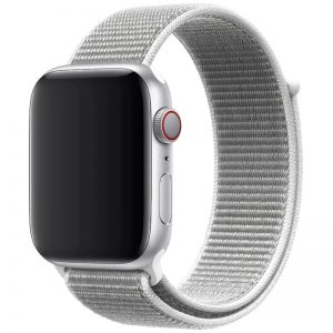 Ремешок Nylon для Apple Watch 38 mm / 40 mm / SE 40 mm – Белый / White