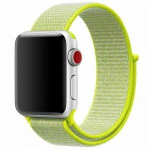 Ремешок Nylon для Apple Watch 38 mm / 40 mm / SE 40 mm – Салатовый / Neon green
