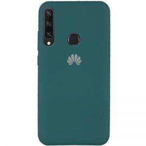Оригинальный чехол Silicone Cover 360 с микрофиброй для Huawei Y6P – Зеленый / Pine green