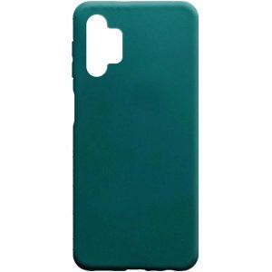 Матовый силиконовый TPU чехол для Samsung Galaxy A32 5G – Зеленый / Forest green